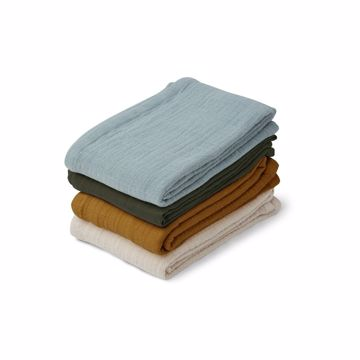 Leon Muslin Cloth 4-pack
